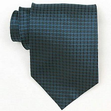 SKU#IS944 Silk Blue Woven Necktie $39
