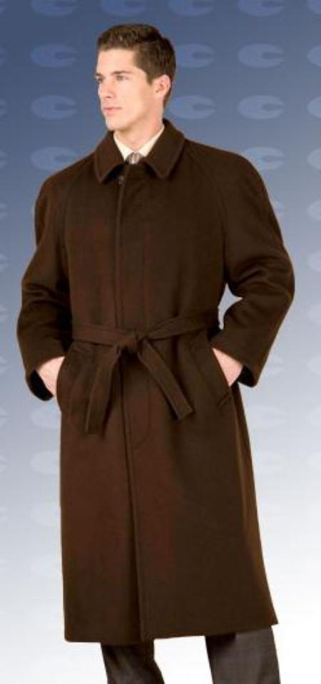 "SKU#Florence 48"" four button single breasted coat with an 18 inch center vent, fly front"