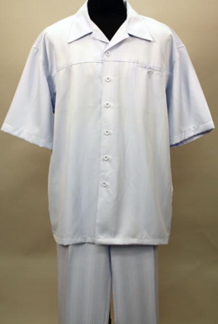 SKU#LM9022 Sky 2 Pc Shirt and Pants Set $99