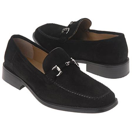 SKU#Z300693 slip-on loafer style with a square apron toe Silver Buckle $99