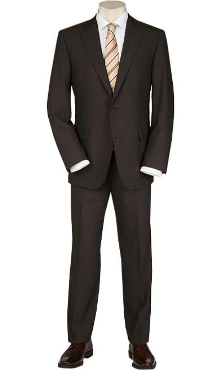 SKU#SP9 Solid Brown Quality Suit Separates, Total Comfort Any Size Jacket&Any Size Pants