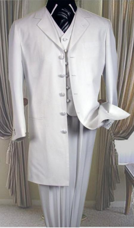 "SKU#MUT758TA three piece light weight zoot suit 38"" long jacket notched Laple $120"