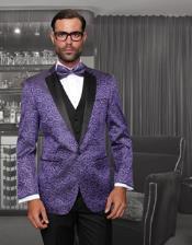 purple tuxedo jacket