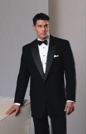 Mens Wool 1-Button Peak Neil Tuxedo Peak Lapel Tuxedo Suit - Wide