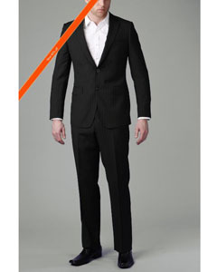 Button Black Multi Stripe ~ Pinstripe Slim Cut Suit