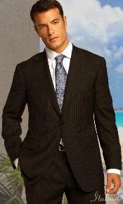 Btn Brown Pinstripe Suit