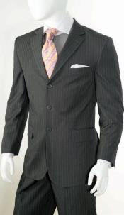 2 Piece Classic Suit - Pinstripe Grey