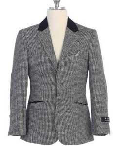 button Boys Kids Sizes Grey Notch Lapel Jacket Centre Vent
