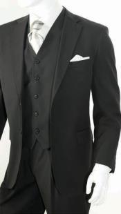 Piece Classic Suit Black