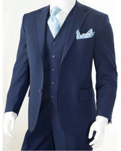 Mens 3 Piece Classic Suit Dark