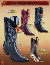 Toe Genuine Stingray mantarraya skin Singlestone Tiger pattern Cowboy Boots