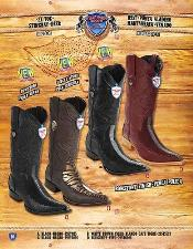 Toe Genuine Stingray mantarraya skin With Deer Cowboy Western Boots Multi-color