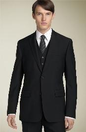 black lapel suits