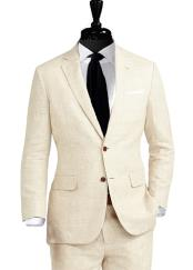 2 Button Linen Suit