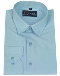Fit - Aqua Blue ~ Turquoise Color Mens Dress Shirt