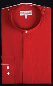 ~ Wine ~ Maroon collarless Club Clubbing Clubwear Shirts