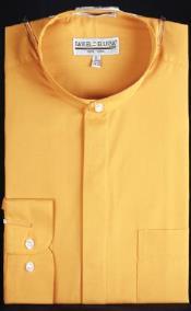 mens golden dress shirts