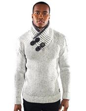 barabas dove gold leaf bone Animal Fur sweater Available in Big