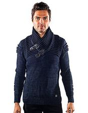 barabas curse gold leaf blue ribbed sweater Available in Big And