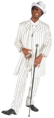 Mens Vested White &