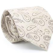 Beige Classic P A I S L E Y Necktie with