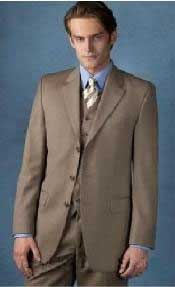 Beige-Color-Three-Button-Suit