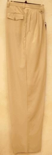 rise big leg slacks Beige Wide Leg Dress Pants Pleated baggy