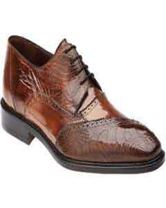 Belvedere Nino Eel & Ostrich Shoes Antique Camel ~