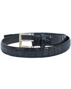 Belvedere Black All-Over Genuine Hornback Crocodile ~ World Best Alligator ~ Gator Skin Belt