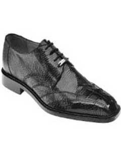 "Belvedere ""Topo"" Black Genuine Hornback Crocodile ~ World Best Alligator ~ Gator Skin / Lizard Shoes"
