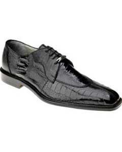 Belvedere Siena Ostrich Lace Up Shoes Black
