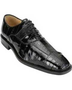 Mens Black Genuine Ostrich