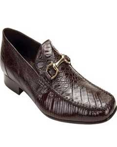 Mens Brown Genuine Crocodile