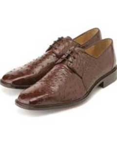 Authentic Genuine Skin Italian Mens Brown Genuine Ostrich