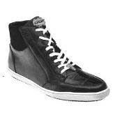 Liquid jet black Soft Calfskin Belvedere Franco crocodile toe&trim Sneakers