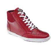 quality Authentic Genuine Skin Italian calfskin Franco crocodile leather -High Top Red belvedere Tennis Dress Sneaker Shoes