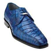 Belvedere Colombo Hornback Crocodile Shoes Ocean Blue