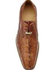 Authentic Genuine Skin Italian Colombo Hornback Crocodile Shoes Camel