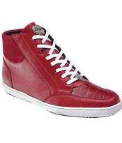 SKU#MK396 Mens Authentic Genuine Skin Italian Franco Crocodile & Soft Calfskin High