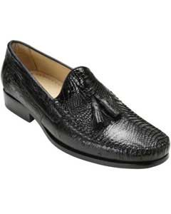 """Bari"" Black Genuine Alligator"