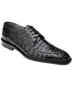 Genuine Skin Italian Chapo Hornback Lace Up Shoes Black