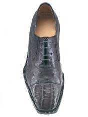 Genuine Skin Italian Cap toe Lace UP Oxford Style Grey