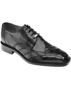 Belvedere Topo Hornback & Lizard Shoes Black