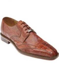 Belvedere Topo Hornback & Lizard Shoes Cognac