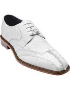 Belvedere Topo Hornback & Lizard Shoes White