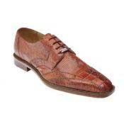 Cognac Alligator skin Mezlan Belvedere Topo Hornback & Lizard Shoes