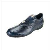 Genuine Skin Italian Mens Bene Dress Sneaker in Navy