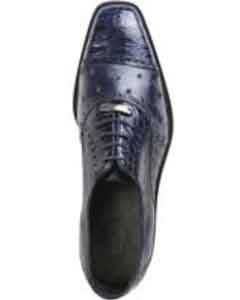 Genuine Skin Italian Cap toe Lace UP Oxford Style II Ostrich/Crocodile