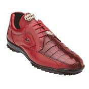 Genuine Skin Italian Vasco Hornback & Calfskin Dress Sneaker Red