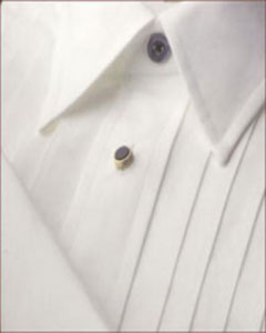And Tall Point Collar Tuxedo Dress Shirt White